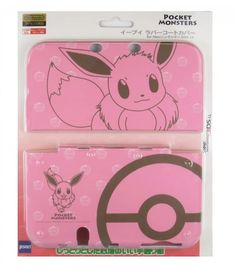 New Nintendo 3DS LL XL Rubber Coat Cover Eevee Pokemon Japan #Nintendo