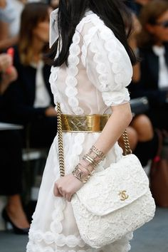 Chanel Spring 2015 Ready-to-Wear Collection - Vogue Primavera Chanel, Chanel Fashion, Runway Fashion, Fashion Show, Womens Fashion, Fashion Spring, London Fashion, Fashion Models, Moda Chanel