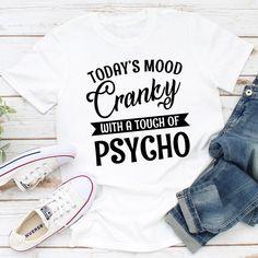 Bestdealfriday Today's Mood Women's T-Shirt, Blue-XXL