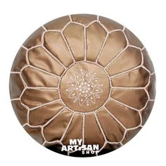 - 100% Faux Leather - Ethically Handmade in Morocco - Size / D 53 x H 32cm - Zip on Underside - Free UK Shipping For orders email: myartisanshop@myartisanshop.com Nursery Furniture, Kitchen Furniture, Leather Pouf, Leather Ottoman, Moroccan Pouf, Best Sellers, Bronze, Child Room, Pattern Designs