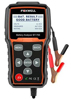 Find the best prices on Battery Tester FOXWELL Automotive CCA Battery Load Tester, Car Cranking and Charging System Test Scan Tool Digital Battery Analyzer for Cars and Heavy Duty Trucks and save money. Battery Clamp, Car Starter, Mechanic Shop, Car Buying Tips, Thermal Printer, Heavy Duty Trucks, Lead Acid Battery, Diy Car, Tool Design