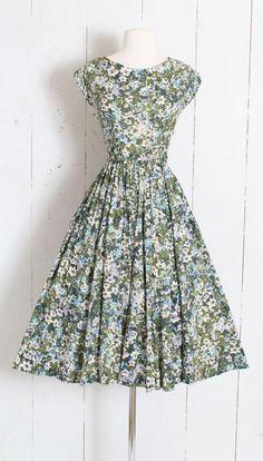 d8ed58db31 Vintage 1950s 50s Dress Jerry Gilden watercolor floral print