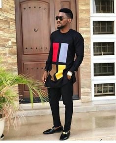 African wedding suit/African fashion/African men dashiki/African attire/african man outfit/prom dress/shirt and pant/groom suit/ankara style African Male Suits, African Dresses Men, African Attire For Men, African Clothing For Men, African Shirts, Mens Clothing Styles, Men's Clothing, Trendy Mens Clothing, Mens Casual T Shirts