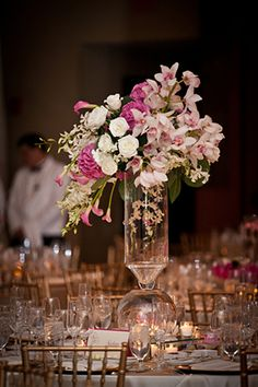 these orchid wedding centerpieces are stunning