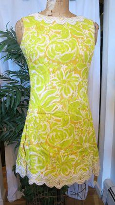Vintage Lilly Pulitzer Hawaiian Print Dress RESORT Good Vintage Condition #LillyPulitzer