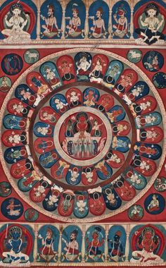 Surya Mandala Artist/maker unknown, Nepalese Geography: Made in Nepal, Asia Date: c. 1800-1850 Medium: Opaque watercolor on paper Dimensions: 18 x 20 inches (45.7 x 50.8 cm)