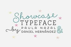 Showcase, the new typeface of Daniel Hernandez and Paula Nazal is a handmade font consisting of a set of types that are composed of four styles, one script, one sans, a slab, sans mini and finally a set of ornaments and dingbats, all made to work together in the same language. It's inspired by a pen that writes different typefaces and ornaments, and casually reaches into a harmonious family.