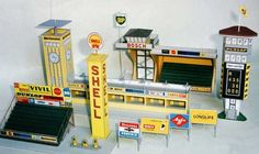 Here are some Race Track Building Paper Models, created by Mick, and the scale is in 1:87 (H0). They are very good for racing papercraft diorama. You can d