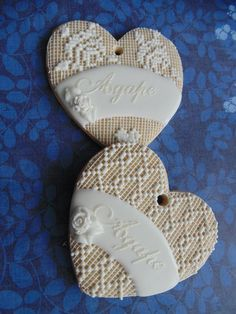 Piped Lace on Heart | Cookie Connection
