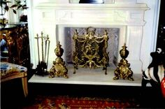 Antique Reproduction Screen and Andiron