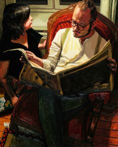"""Képtalálat a következőre: """"man reading painting"""" Newspaper, Reading, Artwork, Books, Paintings, Fictional Characters, Work Of Art, Libros, Journaling File System"""