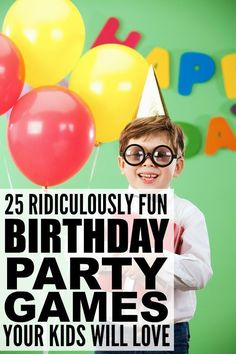 If you're organizing a birthday party for your little one and need help finding the perfect games for kids to keep your guests happy, this collection of 25 ridiculously fun birthday party games for kids is a great place to start! There are so many fabulous birthday ideas for all ages in this list, and these games make great boredom busters for cold winter days!