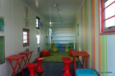 Mandela Day 2012: Blikkiesdorp container library. Cecile & Boyd Foundation created the interior for this collaboration between Boundless Heart Foundation and Y Tsai.