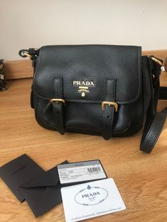 Barely Used Prada Black Pebbled Leather Crossbody Bag in Perfect Condition   fashion  clothing   79e4c2027814b