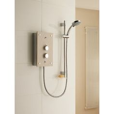 Mira Electric shower, Galena - has an attractive stone effect fascia.