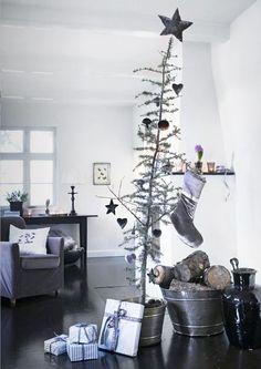 Decoração de Natal Preto e Branco   Eu Decoro