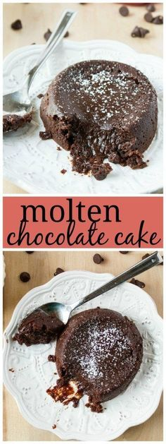 Molten Chocolate Cake - Now you can make one of the best restaurant desserts right at home! Rich chocolate cake, with a gooey center. Sure to impress any guest at your dinner party!