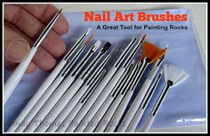 Nail Art Brushes - A Great Set of Tools for Painting Details on Rocks