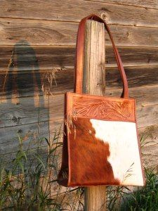 hair on hide purse....my favorite!
