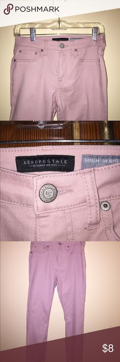 Jeggings Light pink high-waisted jeggings from Aeropostale... bought in august 2017. Never worn, size 4!  Also have an identical size 2 pair but worn a handful of times. Aeropostale Pants Skinny