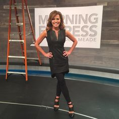 Robin Meade Blog: Robin Meade Fashions #ootd Thanks for all the feedback on today's look! Dress is Mason by Michelle Mason with leggings because it's a little too short for the news! LOL. I found it at TheRealReal.com. Shoes are Joe's Jeans.