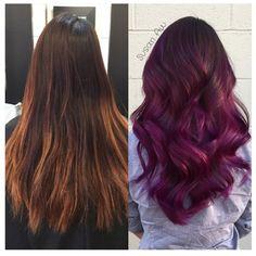 Color Intensity Light Purple & Magenta