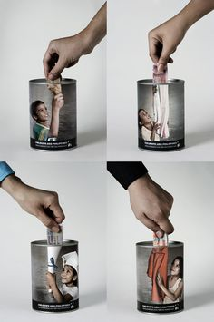 The Philippine ad agency BBDO Guerrero has come up with a creative solution for the Childhope social campaign. Donation cans are designed so realistic that it seems as a real 'hand to hand' help.    Advertiser:Childhope  Agency: BBDO Guerrero