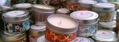 Handmade Candles using 100% Soy Wax.