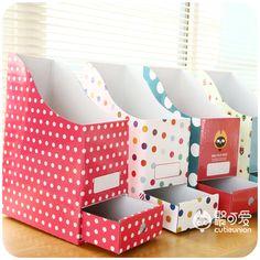 Caixa de armazenamento de papel e caixas de estante titular arquivo revista Organizer em Ciaxas de armazenamento & lixo de Casa & jardim no AliExpress.com | Alibaba Group