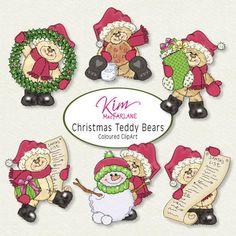 Kim' ClipArt - Christmas Teddy Bears