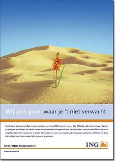 """ING IM Print Ad """"Wij zien groei"""""""