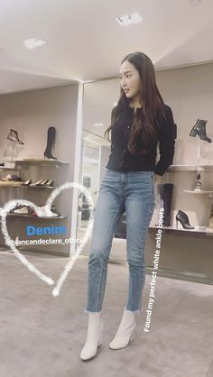 Girls' Generation and SNSD Sooyoung, Yoona, Krystal Jung Fashion, Jessica Jung Fashion, Snsd Fashion, Korean Fashion, Yuri, Jessica & Krystal, Booties Outfit
