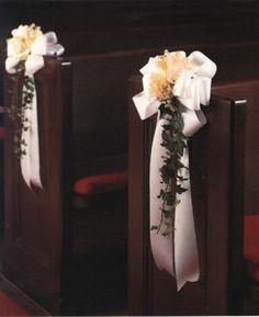 D coration banc d 39 glise mariage pinterest mariage photos et album - Decoration eglise mariage champetre ...