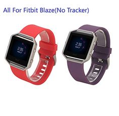 I-SMILE 2PCS Silicone Replacement Band for Fitbit Blaze(No tracker, Replacement Bands Only) *** Be sure to check out this awesome product. (Amazon affiliate link)