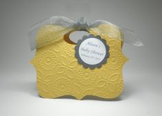 Yellow with Grey Gender Neutral Baby Shower by fairmontfavours, $2.50