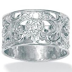 @Overstock - Silver filigree bandSterling silver jewelryClick here for ring sizing guidehttp://www.overstock.com/Jewelry-Watches/Toscana-Collection-Sterling-Silver-Filigree-Band/6187668/product.html?CID=214117 $29.99