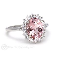 39 Best Morganite Ring Images In 2018 Rings Jewelry Diamond Rings