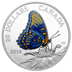 Fine Silver Coin - Butterflies of Canada: Red-Spotted Purple - Mintage: 10,000 (2014)
