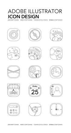 ILLUSTRATOR ICON DESIGN - ICONFANS|图标粉丝网|专业图标界面设计论坛,软件界面设计,图标制作下载,人机交互设计 App Icon, Icon Design, Adobe Illustrator, Icons, Graphic Design, Math, Words, Illustration, Inspiration