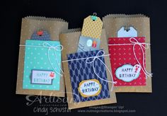 Tag a Bag Gift Bags and Maritime DSP make easy gift packaging! ~ Cindy Schuster