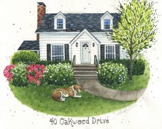 Hey, I found this really awesome Etsy listing at https://www.etsy.com/listing/99948580/custom-house-portrait-watercolor