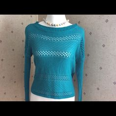 Teal Light Weight  Sweater Forever 21 Teal Blue Sweater. Size Medium. Excellent condition. Cotton & Acrylic material. This sweater would look super cute with distressed jeans! No trades or PayPal. Forever 21 Sweaters Crew & Scoop Necks