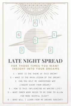 Tarot spread for dream analysis!