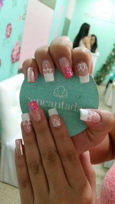 Love Nails, My Nails, Easy Nail Art, French Nails, Manicure And Pedicure, You Nailed It, Nail Art Designs, Hair Beauty, Make Up