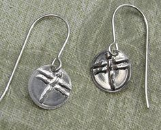Tiny Little Dragonfly Sterling Silver Stamped by nicholasandfelice, $18.00