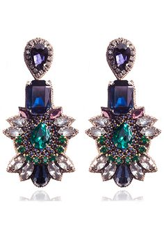 Suzanne Dai-Navy Opava Drop Earring
