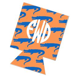 This is blue and orange with alligators and a monogram!!! I want this sooooo much!!!