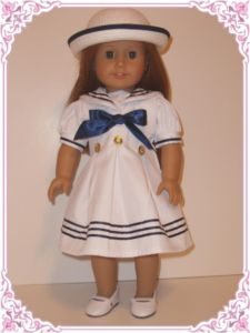 Sailor Dress with hat - American Girl Doll outfit