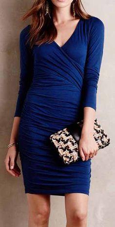 Knit Surplice Dress