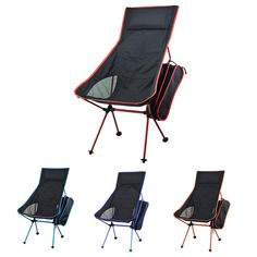 Beach Chairs Frugal Portable Gray Moon Chair Fishing Camping Stool Folding Extended Hiking Seat With Pocket Ultralight Office Home Furniture